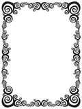 Swirl frame Royalty Free Stock Images