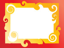 Swirl frame Stock Image