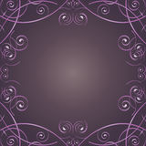 Swirl Frame. Vector image of frame with swirls Royalty Free Stock Photos