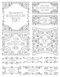 Swirl Frames Two. A collection of swirl frames stock illustration
