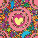 Swirl fruit apple line seamless pattern Stock Photos