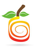 Swirl fruit logo. Illustration of swirl fruit logo design on white background vector illustration