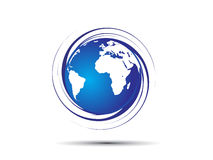 Swirl globe Royalty Free Stock Image