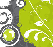 Swirl globe Stock Image