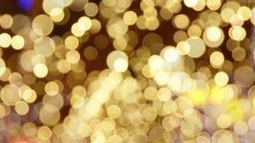 Swirl of golden light stock video