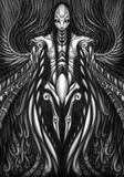 Swirl gothic mecha Stock Image