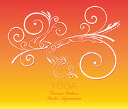 Swirl graphic yoga pose. Royalty Free Stock Photography