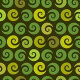 Swirl green seamless pattern Stock Images