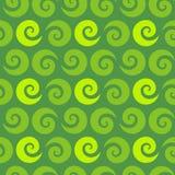Swirl green seamless pattern Royalty Free Stock Photos