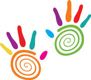Swirl hands Stock Images