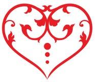 Swirl heart Stock Photo