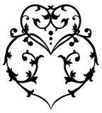 Swirl heart Royalty Free Stock Photography