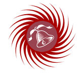 Swirl Icon with Christmas Bell Royalty Free Stock Photos
