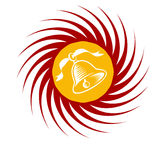Swirl Icon with Holiday Bell Royalty Free Stock Image