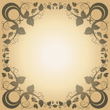 Swirl Leaf Frame Vintage Abstract Background. /Wallpaper Stock Photography