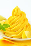 Swirl of lemon cream Stock Image