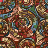 Swirl line drawing seamless pattern Royalty Free Stock Images