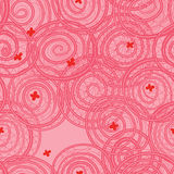 Swirl line pink color seamless pattern Royalty Free Stock Images