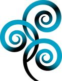 Swirl logo Royalty Free Stock Photos