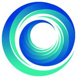 Swirl logo Stock Photography