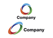 Swirl logo. A logo that can be used for company branding Stock Image