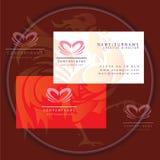 Swirl love business card logo. Symbol icon stock illustration