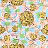 Swirl mascot cage seamless pattern Stock Photos