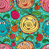 Swirl mascot cute colorful seamless pattern Royalty Free Stock Photography