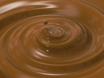 Swirl melt chocolate. 3d rendering swirl cocoa or swirl melt chocolate vector illustration