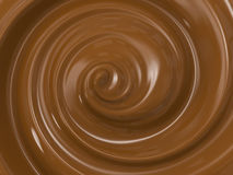 Swirl melt chocolate. 3d rendering swirl cocoa or swirl melt chocolate Stock Photography