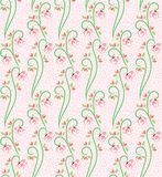Swirl Nature Butterfly Pattern 3. A seamless pattern design of flowers, butterfly and leaves, illustrated with contemporary style vector illustration