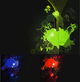 Swirl nature eement in black background. Swirl nature element in black background. Ideal for youth events, festivals, concerts, tribal culture concepts royalty free illustration