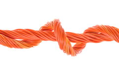 Swirl of orange network cables Stock Image