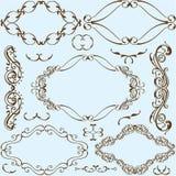Swirl ornate art set Royalty Free Stock Images