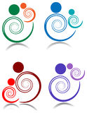 Swirl parent and baby. Abstract swirl parent and baby illustrated image vector illustration