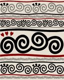 Swirl pattern. Decorative repeat pattern with curl motive Royalty Free Stock Images