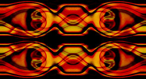 Swirl Pattern Border. Red, gold and black swirled pattern with faint green swirls running through it Royalty Free Stock Photos