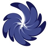 Swirl Pattern Designs in Blue stock photography