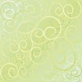Swirl pattern green gold Stock Photography