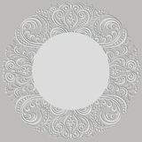 Swirl pattern, ornamental round frame Stock Photography