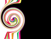 Swirl rainbow Stock Photography