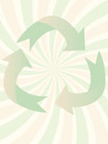 Swirl Recycling Symbol vector illustration Stock Images