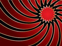Swirl in red & gold Stock Image