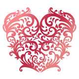 Swirl red heart Royalty Free Stock Photo