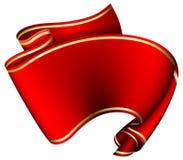Swirl red ribbon Stock Photos