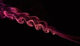 Swirl of red smoke Stock Photo