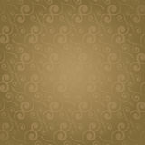 Swirl repeat golden Royalty Free Stock Photos