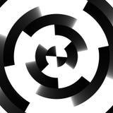 Swirl retro techno background Stock Image