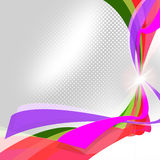 Swirl Ribbons Means Empty Space And Abstract Stock Image