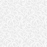 Swirl seamless pattern. Abstract white vector wavy background Royalty Free Stock Image